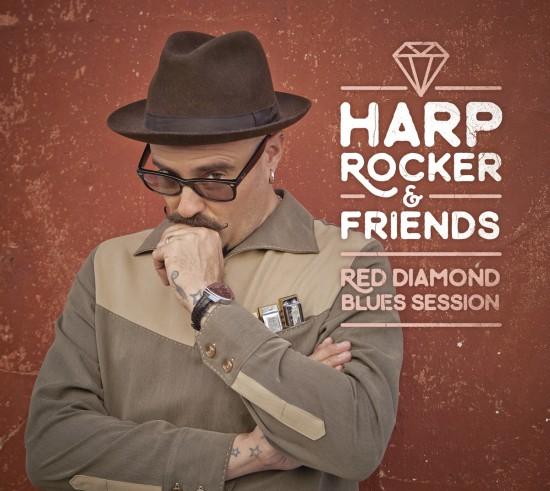 Portada de Red Diamond Blues Session, de Harp Rocker & Friends