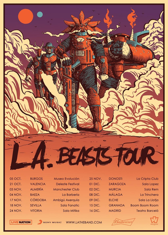 Fin-de-gira-L.A. Beasts Tour. L.A. anuncia su gira de invierno en salas